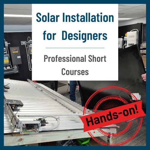 Solar installation for designers
