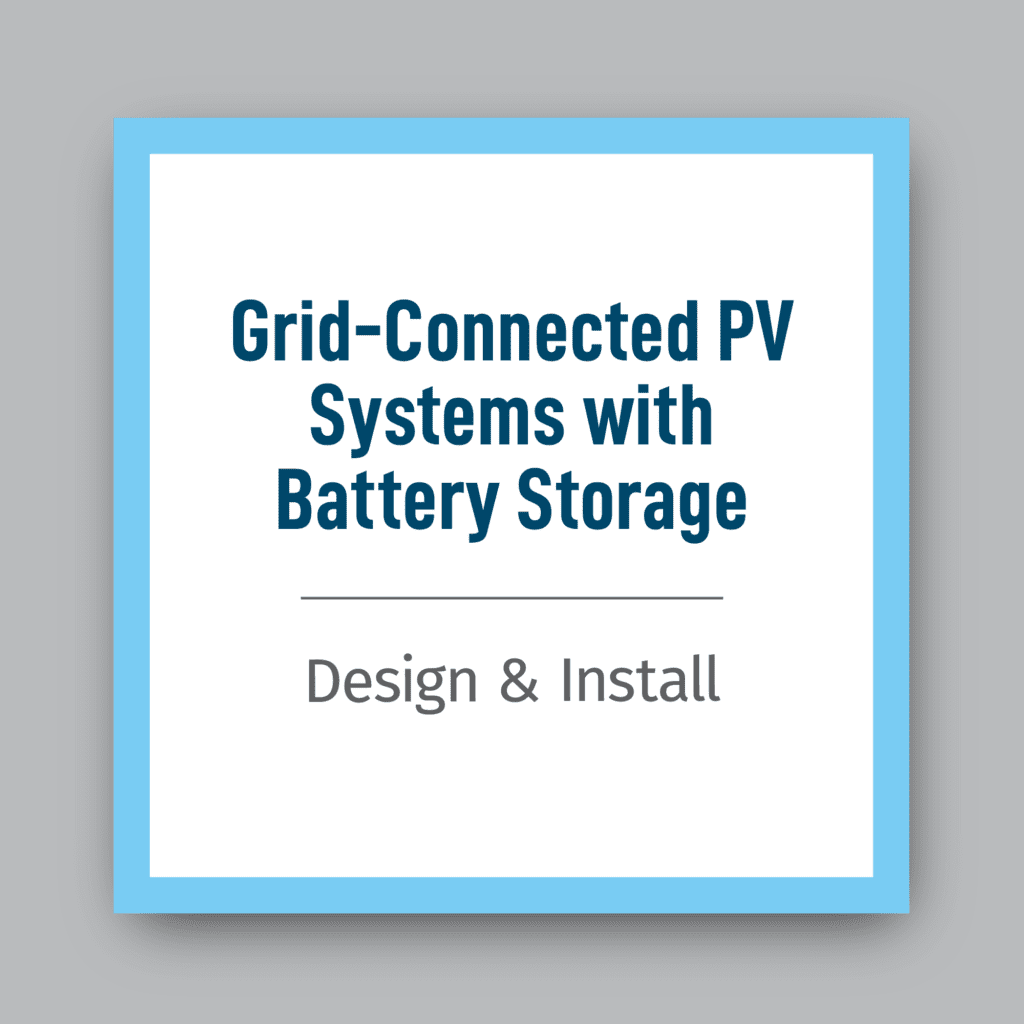 Grid-Connected-PV-w-Battery-Storage-Design-and-Install